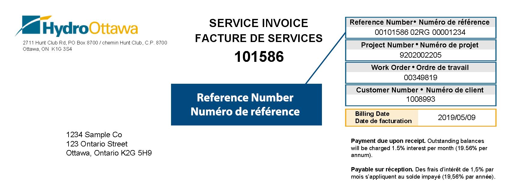 Hydro Ottawa Reference Number