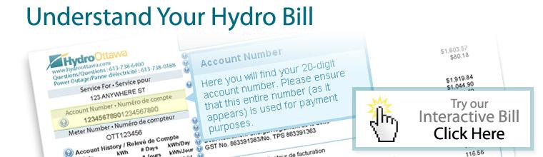 Understand your hydro bill