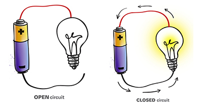how to change current flow generated by a battery