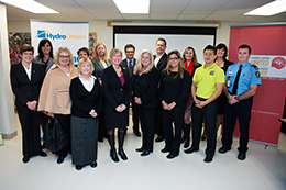 Photograph of representatives from the 2013 Brighter Tomorrows Fund recipient agencies