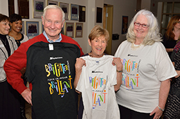 Photograph of Their Excellencies the Right Honourable David Johnston, Governor General of Canada, and his wife Mrs. Sharon Johnston along with Hydro Ottawa's Community Relations Officer volunteering at Youville Centre