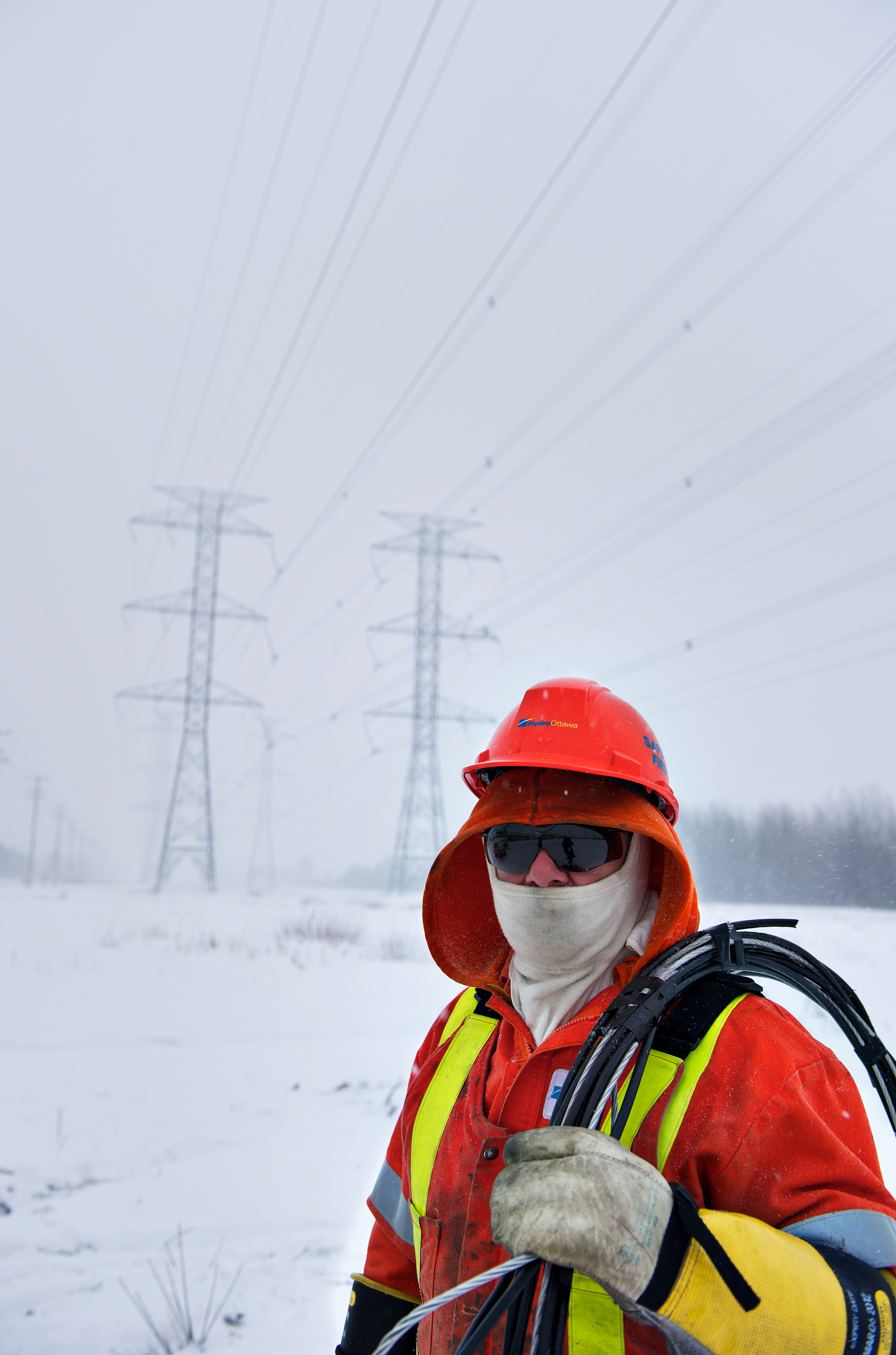 Outages Safety At Home Outside The Hydro When Working With Electricity Always A Ottawa Power Line Maintainer On Cold Winter Day