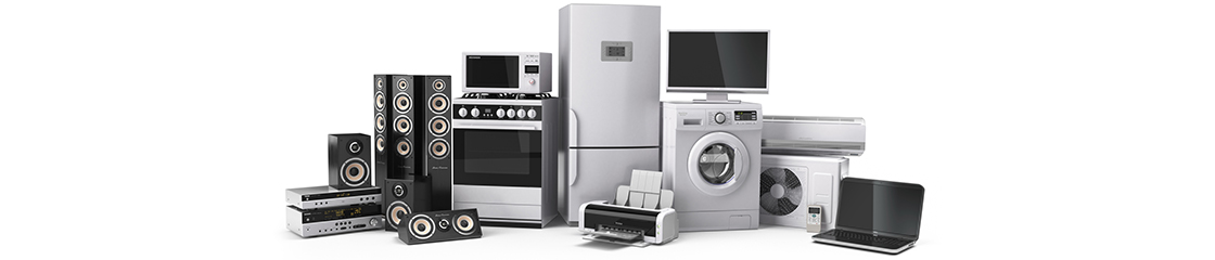 A collection of household appliances.