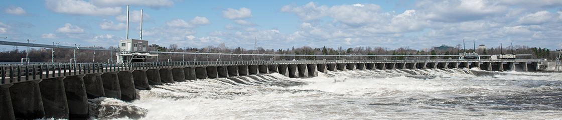 Chaudière Falls ring dam on the Ottawa River