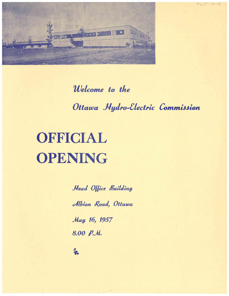 Official Opening Program