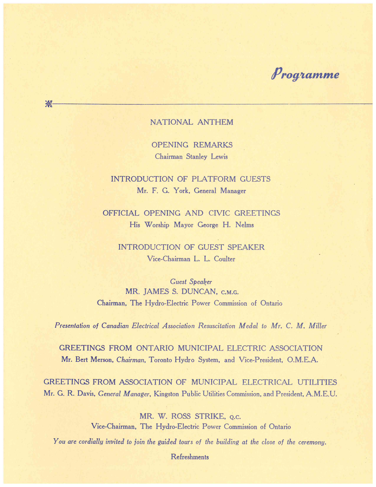 Official Opening Program (Image 3)