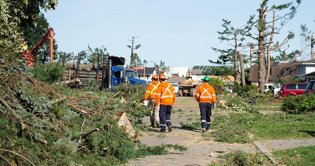 Le 21 septembre, six tornades ont frappé la région de la capitale nationale