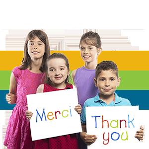 CHEO enfants posant pour une photo de remerciement