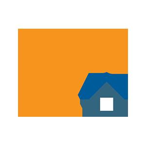 Une illustration d'une grue de construction et de la maison