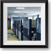 A photo of cubicles
