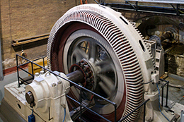 Photo of a hydro electric generator