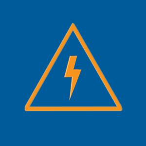 High voltage icon.
