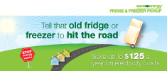 Tell that old fridge or freezer to hit the road