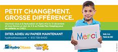 Campagne Dites adieu au papier: Aidez-nous à faire une grosse différence