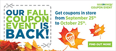 Our fall coupon event is back!