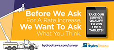 Before we ask for a rate increase, we want to ask what you think