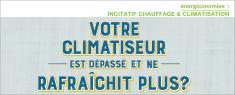 Logo : Le titre du programme énergiconomies suivi des mots « Incitatif chauffage et climatisation »