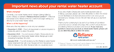 Important news about your rental water heater account