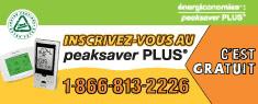 Inscrivez-vous au peaksaverPLUS(r)