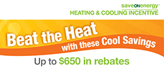 This is an image of the saveONenergy: Beat the Heat bill insert.