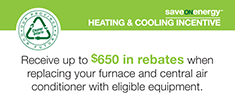 saveONenergy: Heating and Cooling Incentive