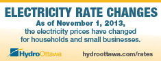 Bill insert describing Electricity Rate Changes