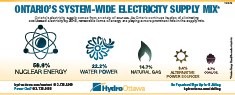 Ontario's System-Wide Electricity Supply Mix